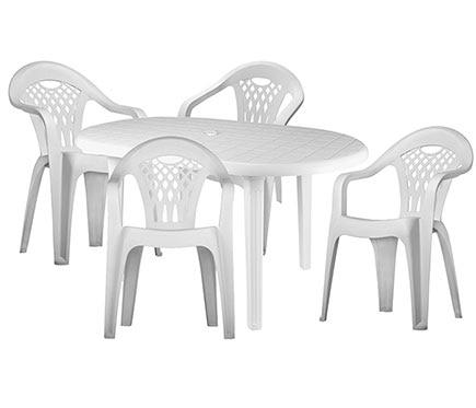 Conjunto de resina costa canc n blanca ref 010114 for Outlet muebles cancun