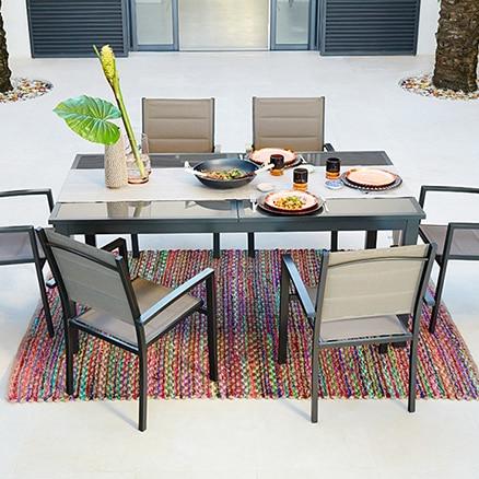 Conjuntos de muebles para comer leroy merlin for Muebles de terraza leroy merlin