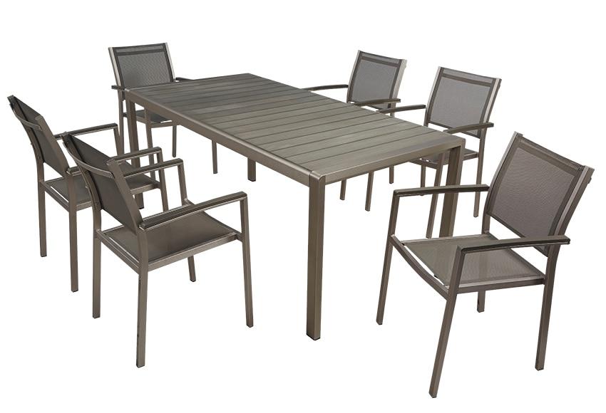 Conjunto de aluminio y composite albany ref 010114 for Conjunto jardin leroy merlin