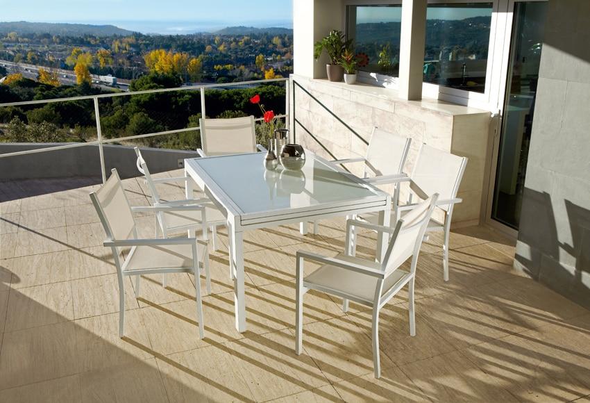 Conjunto de aluminio olivia blanco ref 010114 17805312 - Conjuntos de jardin leroy merlin ...