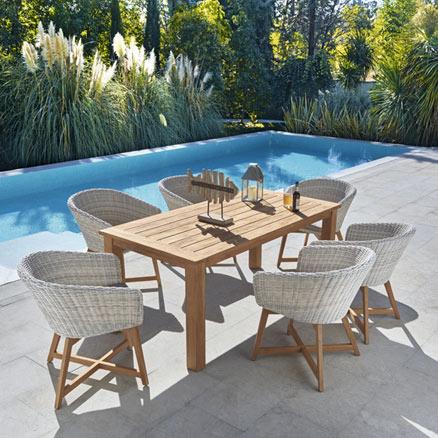 Muebles jardin tumbonas: Mesas de exterior leroy merlin