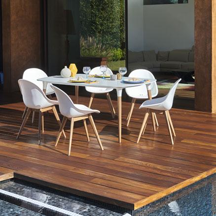 Conjuntos de mesas y sillas leroy merlin for Sillas cocina leroy merlin