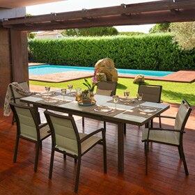 Set de aluminio trenzado naterial manhattan ref 81868526 for Set de resina de jardin trenzado barato