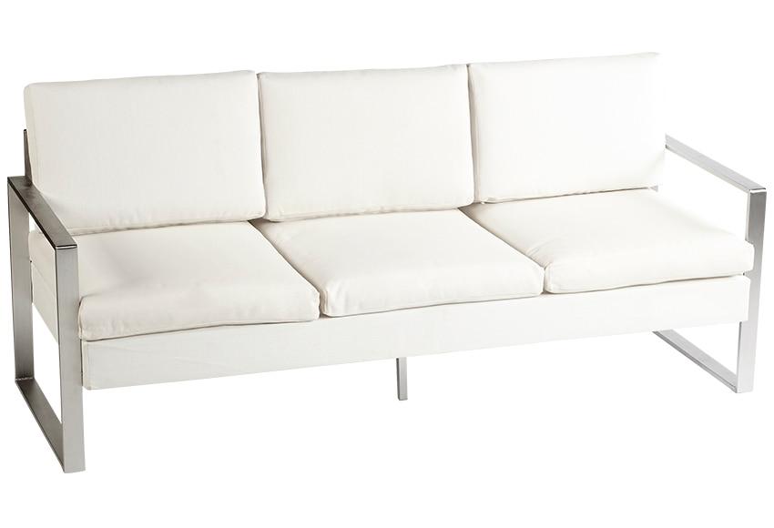 Set de aluminio y textileno cerde a blanco ref 15953476 for Sofa exterior aluminio blanco