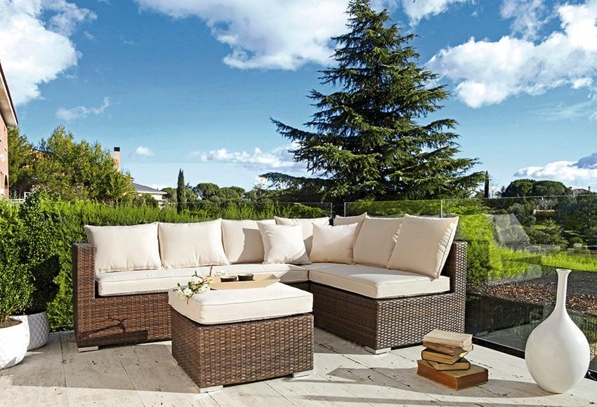 Set de acero y rat n sint tico arrecife ref 15961281 for Ofertas en muebles de terraza y jardin