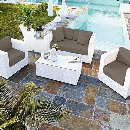 Conjuntos de muebles con mesa baja leroy merlin - Muebles jardin leroy ...