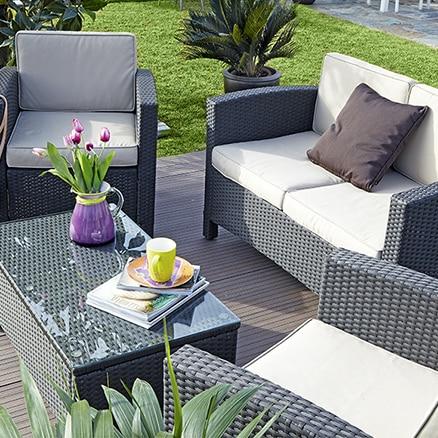 Conjuntos de muebles con mesa baja leroy merlin for Muebles jardin leroy merlin
