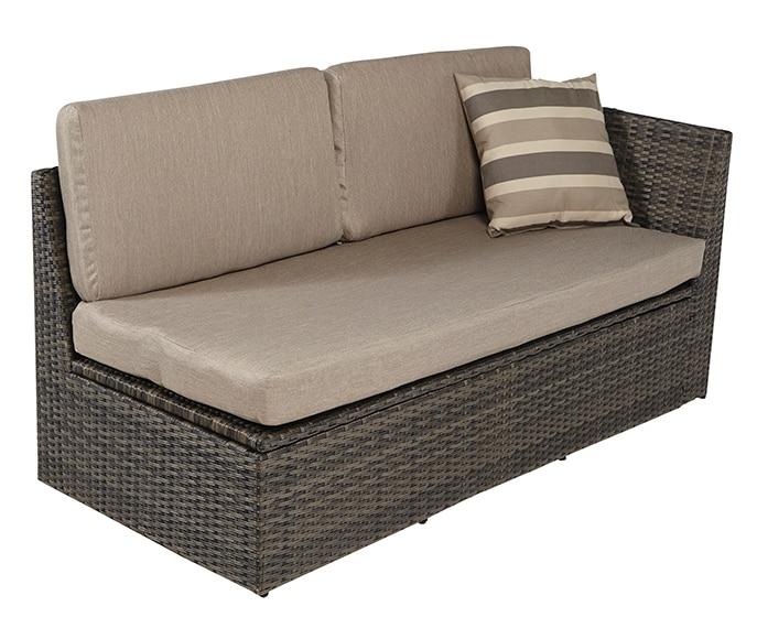 Set de aluminio y rat n sint tico mil n ref 17205216 for Sofa exterior leroy merlin