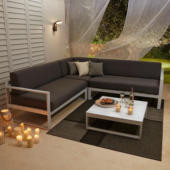 Conjunto de aluminio y poli ster formentera ref 010115 for Conjunto jardin aluminio