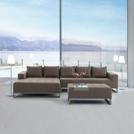 Conjuntos de muebles con mesa baja leroy merlin for Sofa exterior leroy