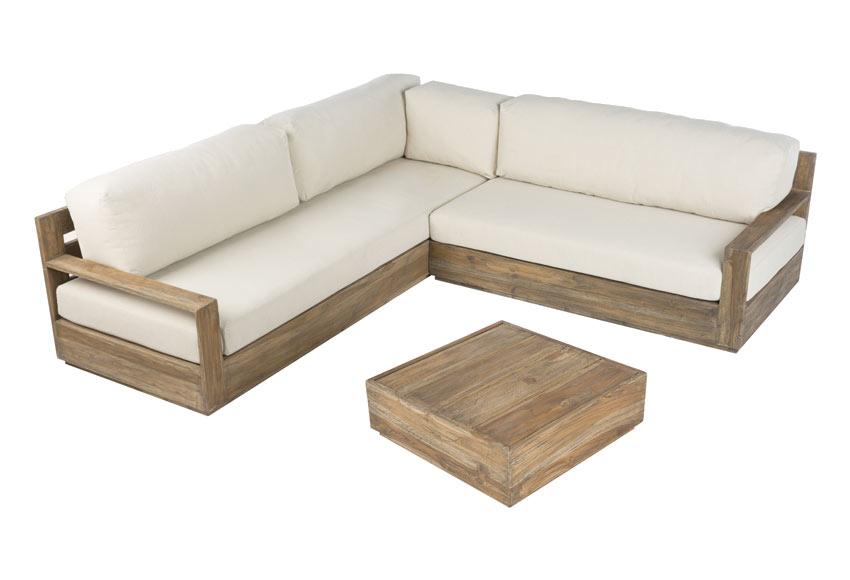 Conjunto esquinero bahia ref 010115 19191305 leroy merlin for Sofa de madera para terraza