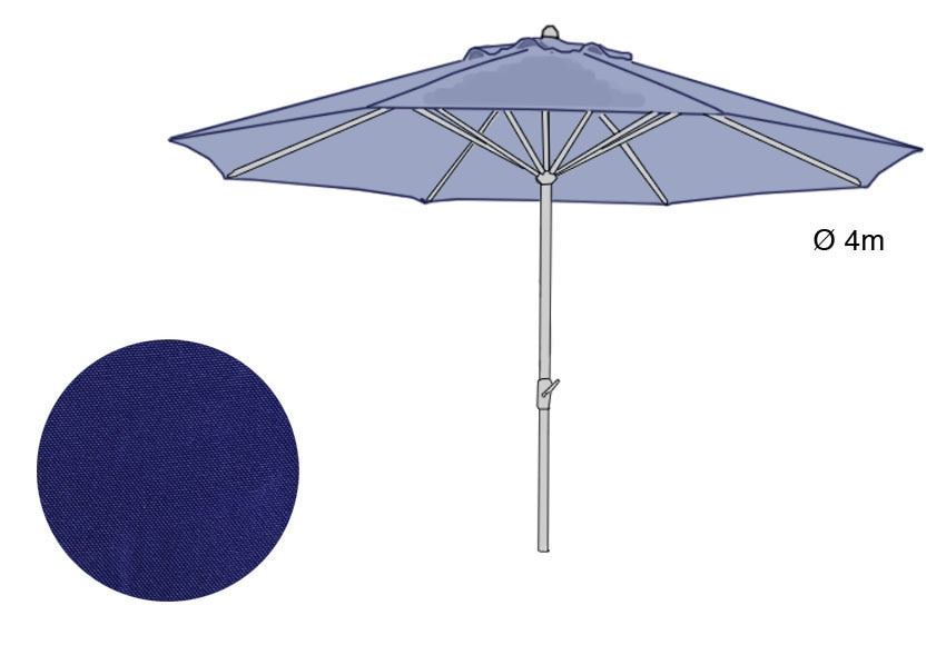 Toldo para parasol d400 ref 15310176 leroy merlin for Parasol deporte inclinable leroy merlin