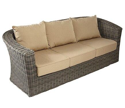 Sof de aluminio y rat n sint tico komodo ref 17152604 for Komodos muebles