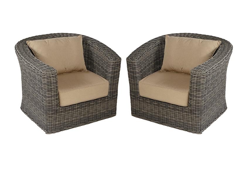Dos sillones de aluminio y rat n komodo ref 17152611 for Sillones de ratan para jardin