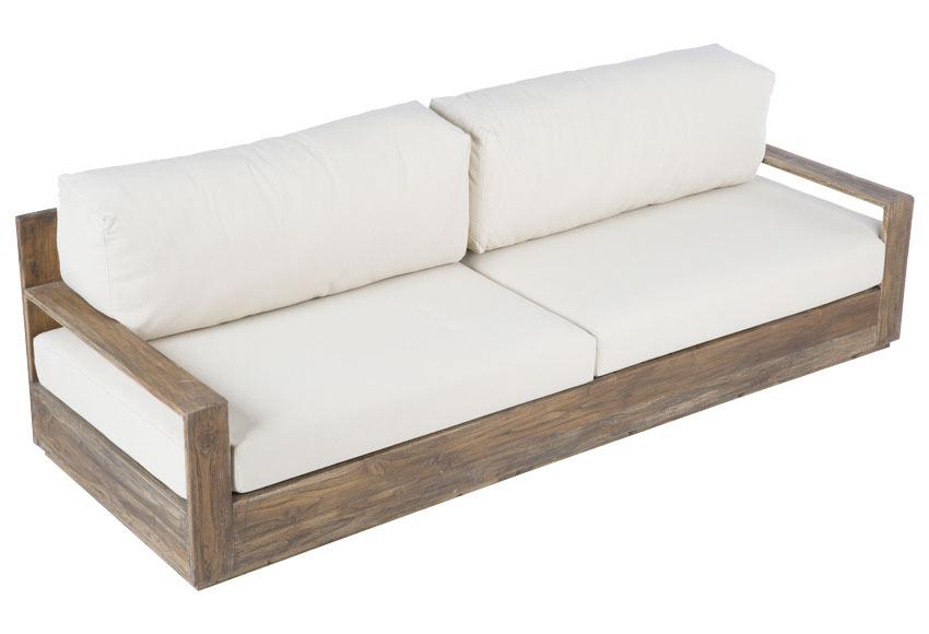 Sofa De Madera De Teca Genteng Bahia Ref 19190941 Leroy Merlin - Sofas-de-madera