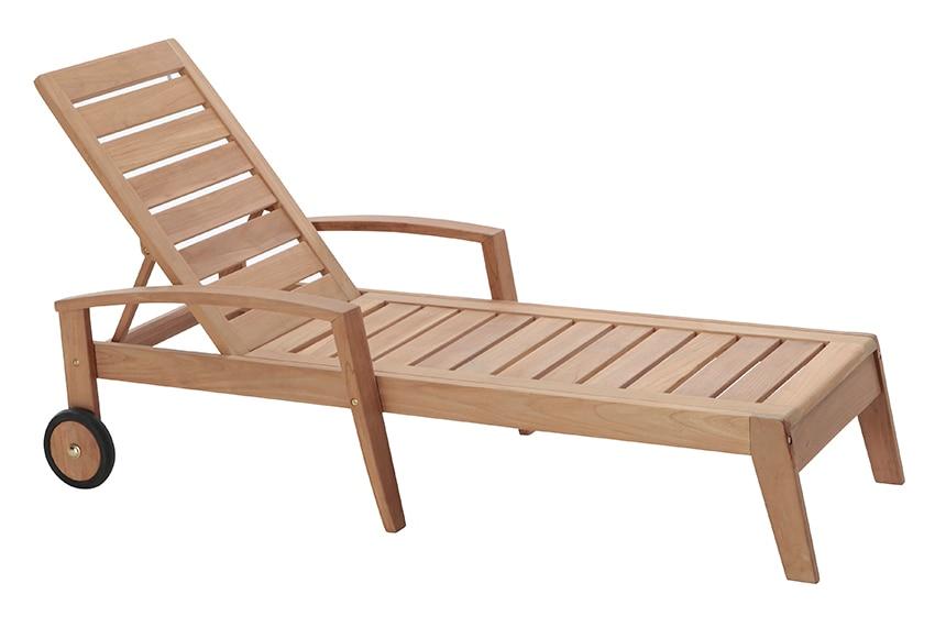 Tumbona de madera de teca prince ref 17355282 leroy merlin - Tumbonas leroy merlin ...