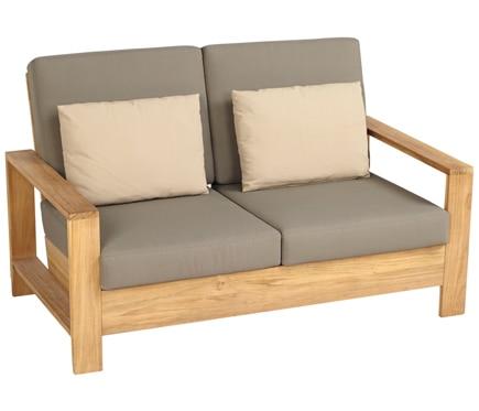 Sof de madera cayo largo ref 17784333 leroy merlin for Sillones rusticos de madera