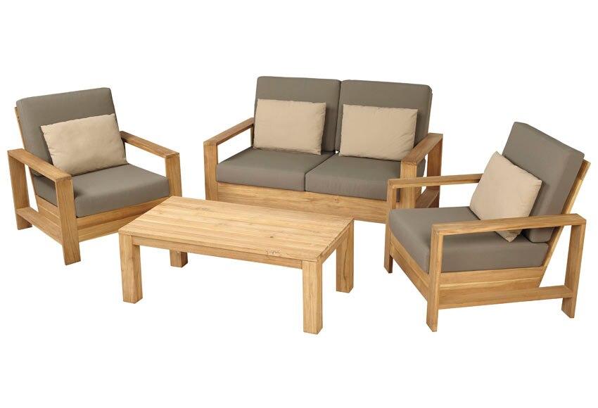 Sof de madera cayo largo ref 17784333 leroy merlin for Sofa terraza madera