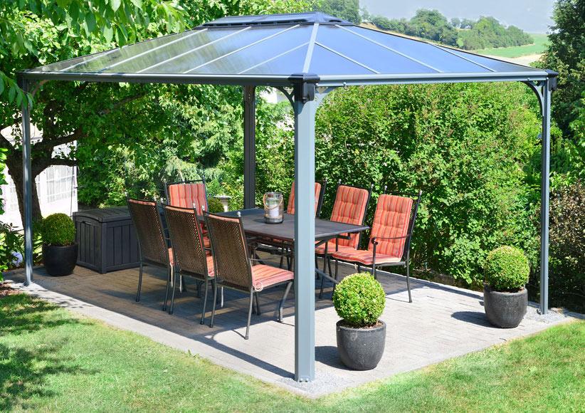 Cenadores de aluminio xm azul librea aluminio marco - Carpa jardin carrefour ...