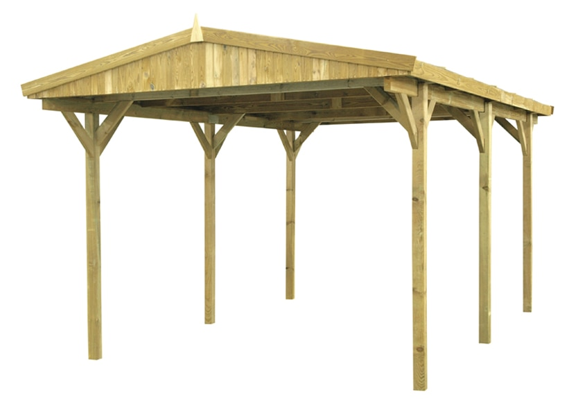 Cochera de 5 x 3 m madera ref 13740776 leroy merlin - Pergola sydney leroy merlin ...
