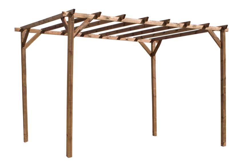 P rgola de 3 x 4 m magdalie ref 13779192 leroy merlin for Pergolas de madera para jardin leroy merlin