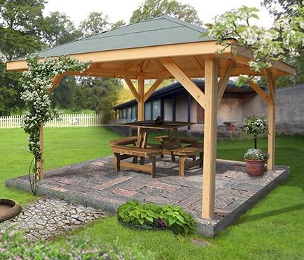 Cenador de 4 x 4 m villaverde ref 14988890 leroy merlin - Cenador para jardin ...