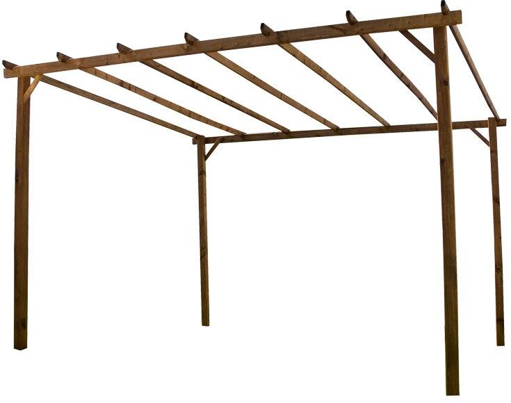 P rgola de 4 x 3 m ref 16732065 leroy merlin - Como construir una pergola barata ...