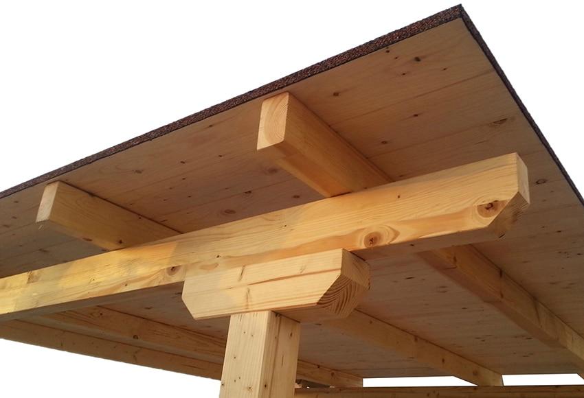 Techado de 3 x 4 m madera teja ref 16763103 leroy merlin - Vigas imitacion madera leroy merlin ...