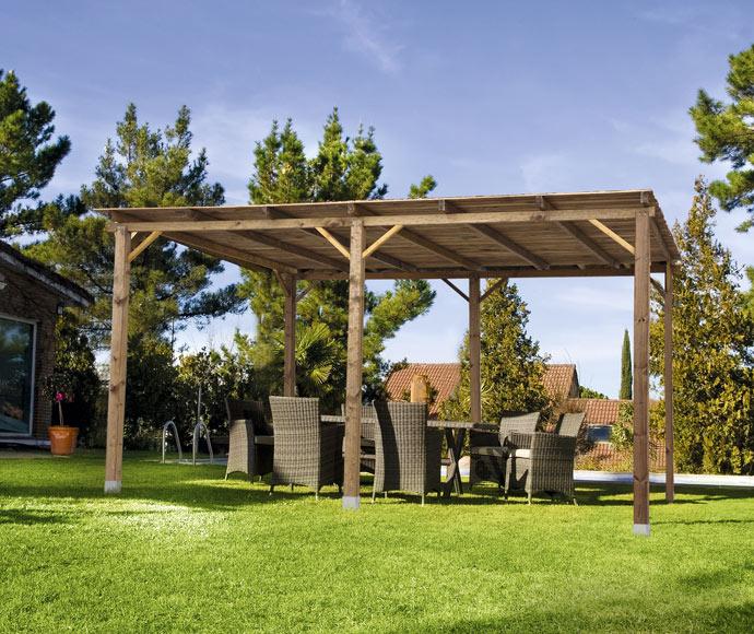 P rgola de madera 5 x 3 m aitana ref 18052321 leroy merlin - Pergolas baratas para jardin ...