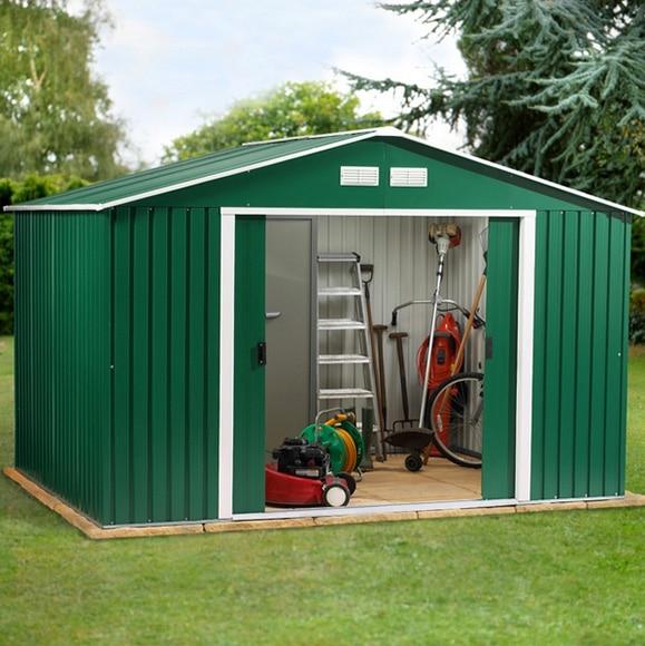 Caseta de acero de 3 21 x 2 42 m colossus 10x8 ref for Casetas de madera baratas para jardin brico depot