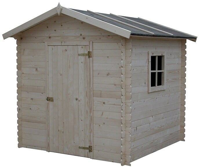 Caseta de madera de pino de 2 17 x 1 99 m guise ref for Caseta jardin leroy merlin