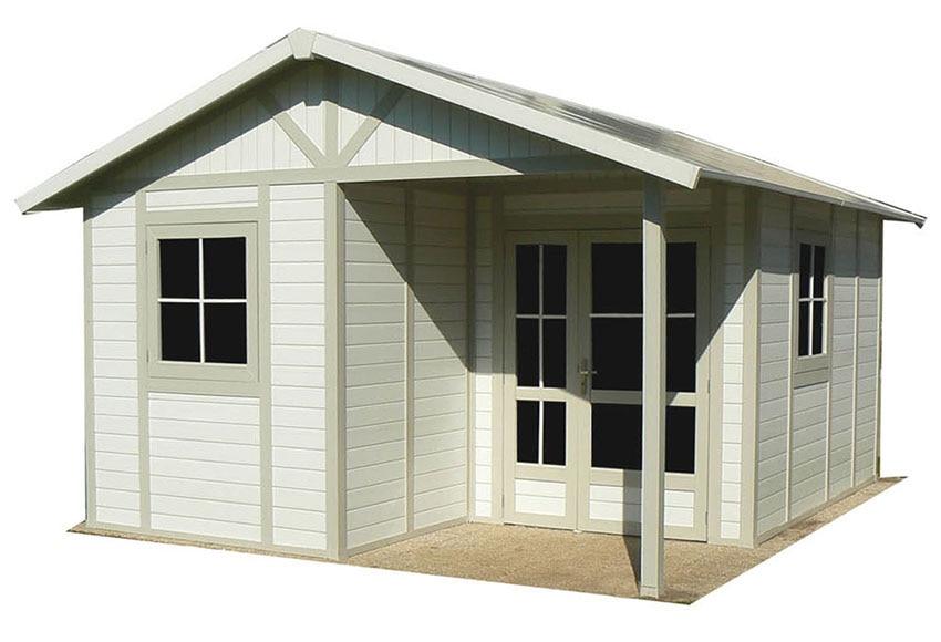 Caseta de resina de 4 68 x 5 53 m deco 20b ref 14079002 for Casetas de jardin de resina aki