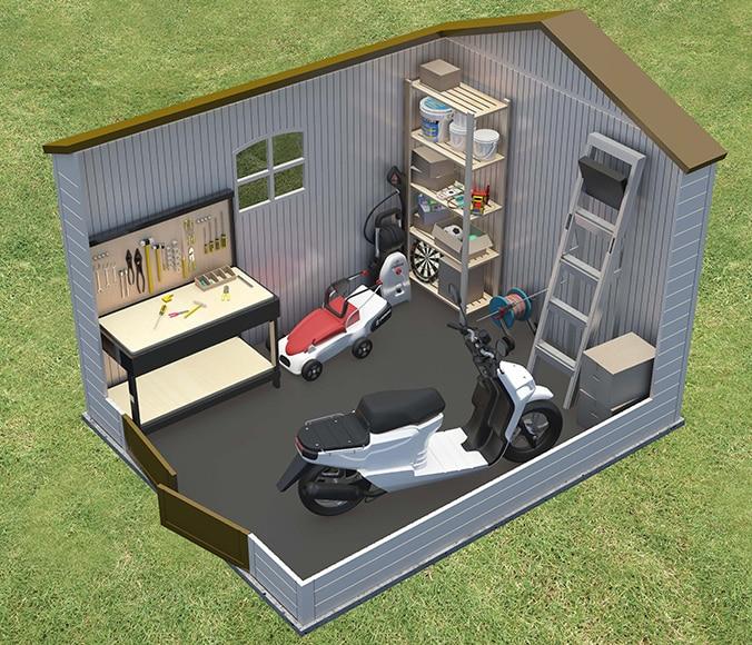 Caseta de resina de 2 45 x 3 05 m lifetime 6405 ref for Caseta resina leroy merlin
