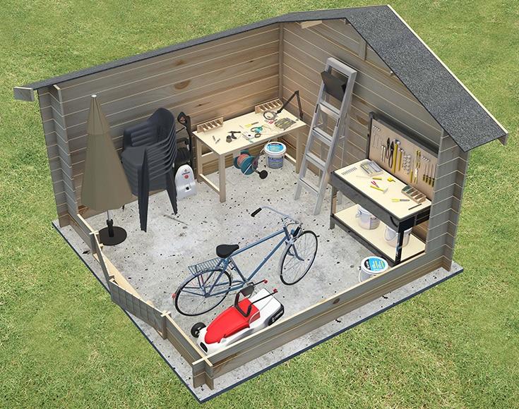 Caseta de madera de 8 88 m2 montaigut ref 14482370 for Caseta jardin leroy merlin