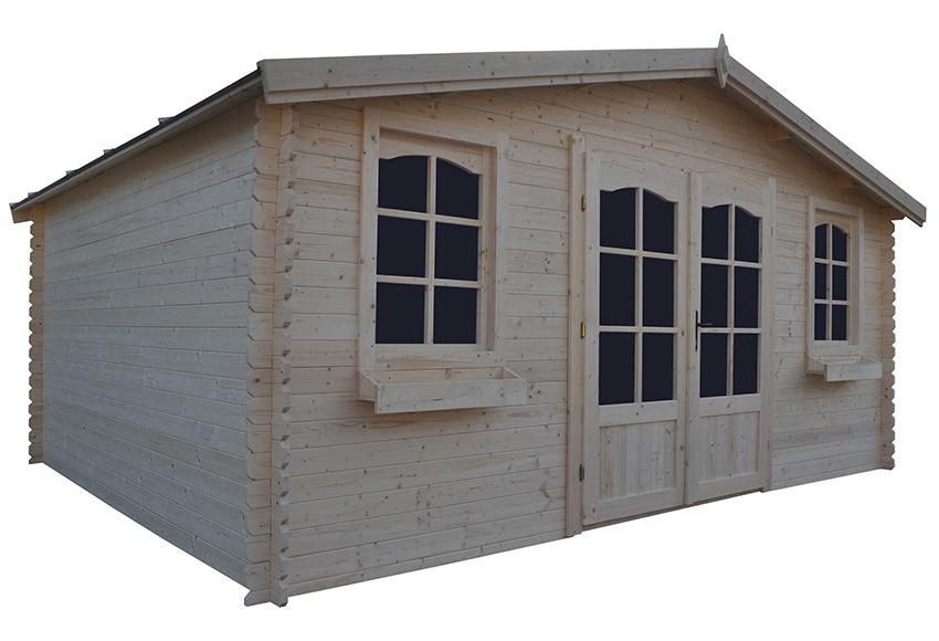 Caseta de madera de abeto de 5 2 x 4 20 m alma ref - Hacer caseta de madera ...