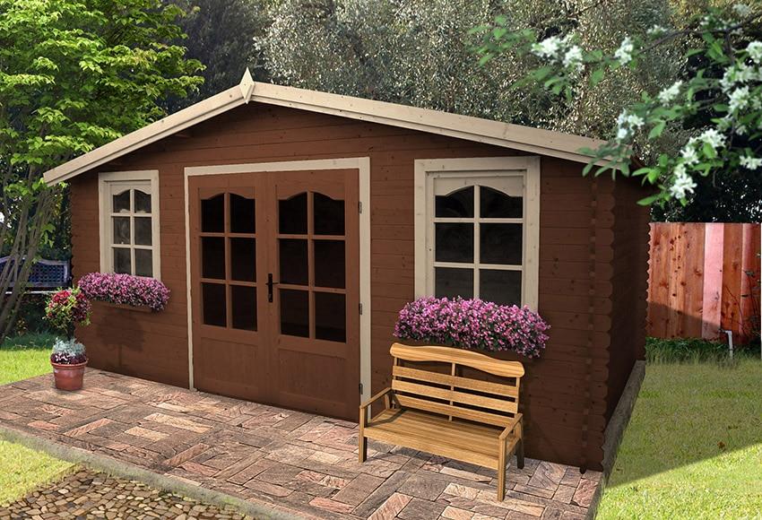 Caseta de madera de abeto de 5 2 x 4 20 m alma ref for Caseta resina leroy merlin