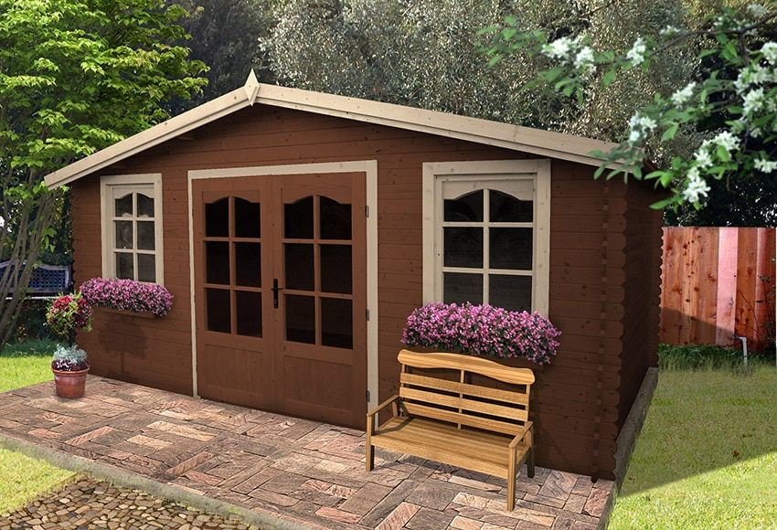 Caseta de madera de abeto de 5 2 x 4 20 m alma ref - Casetas de jardin leroy ...