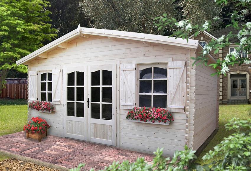 Caseta de madera de abeto de 5 15 x 4 35 m crecy ref for Casas de madera jardin leroy merlin