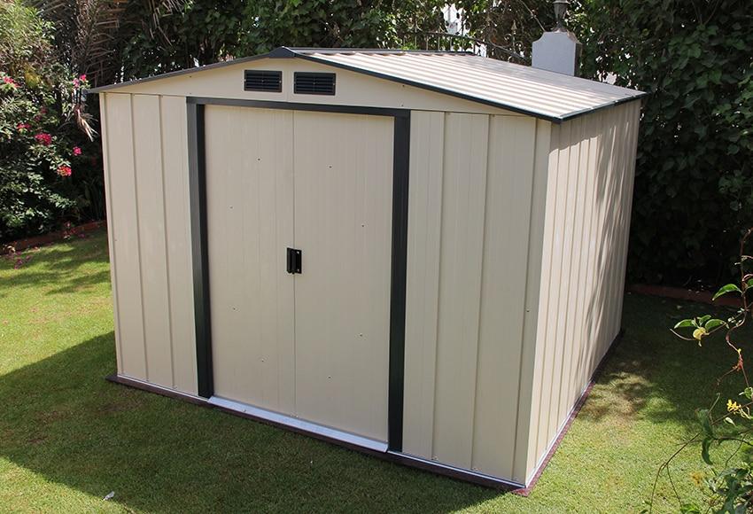 Caseta de acero de 2 62 x 2 42 m eco shed 8x8 ref for Caseta resina leroy merlin