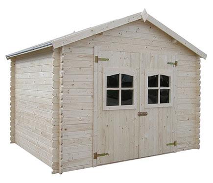 Caseta de madera de abeto de 3 15 x 3 02 m lessay ref for Casetas de madera leroy