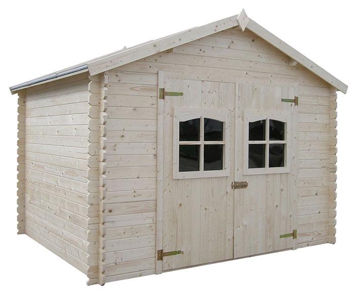 Caseta de madera de abeto de 3 15 x 3 02 m lessay ref for Caseta para guardar bicis