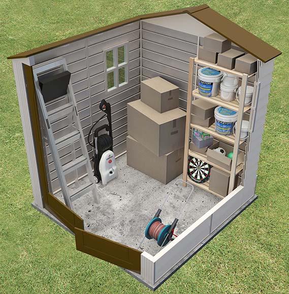 Caseta de resina de 1 9 x 1 9 m woodside 6x6 ref 16276855 for Caseta resina leroy merlin