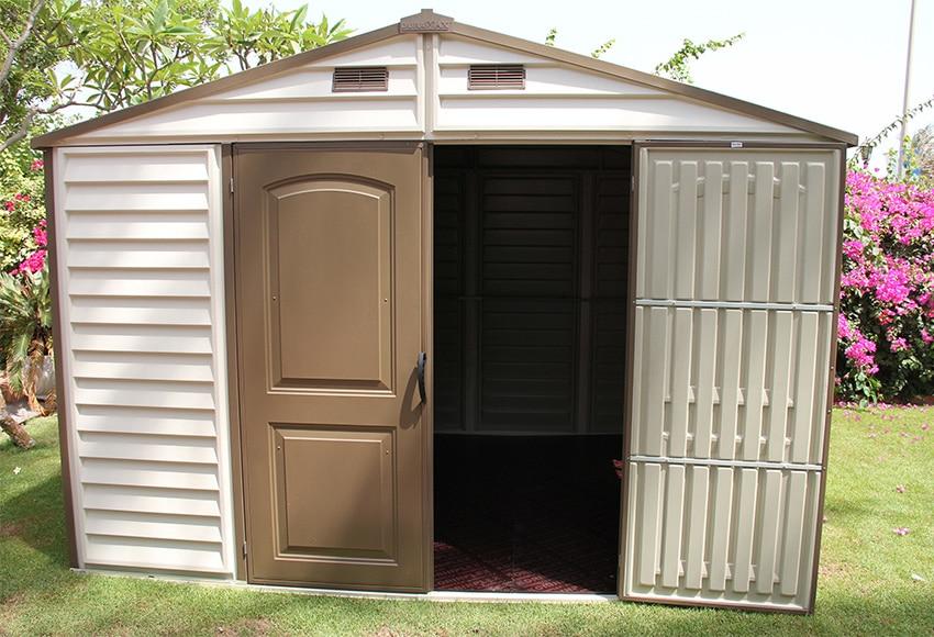 Caseta de resina de 3 25 x 2 46 m woodside 10x8 ref for Caseta resina leroy merlin
