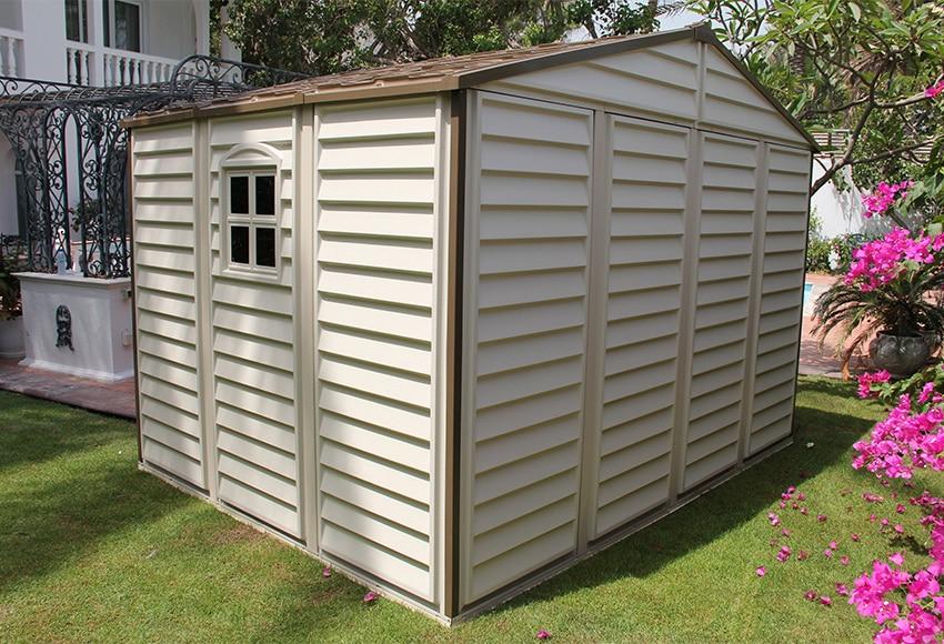 Caseta de resina de 3 25 x 2 46 m woodside 10x8 ref - Casetas de jardin leroy merlin ofertas pau ...