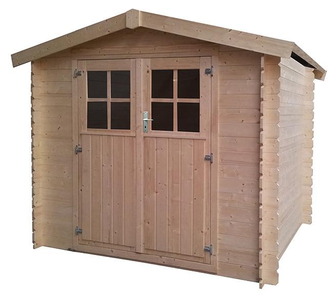 Caseta de madera de pino de 2 58 x 2 19 m kenai ref for Caseta resina leroy merlin