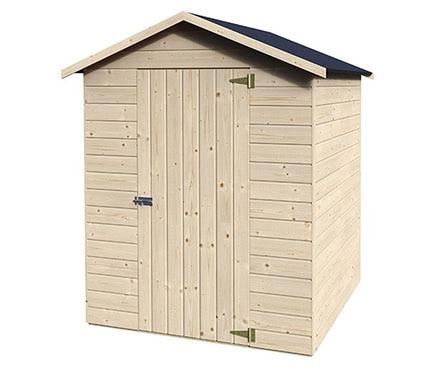 Caseta de madera de pino de 1 71 x 1 75 m naterial lima for Casetas de madera leroy