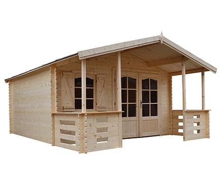 Caseta de madera de abeto de 4 2 x 5 57 m lauris ref for Caseta jardin leroy merlin