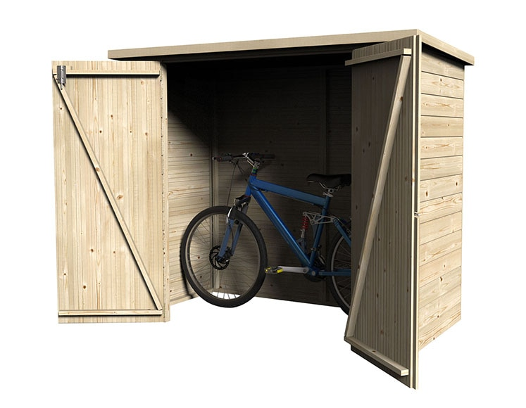 Caseta arcon de madera de 140 m2 box bike ref 16732464 for Caseta jardin leroy merlin