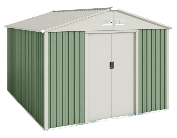 Caseta de acero de 2 61 x 3 01 m g lliv ref 16766022 for Casetas metalicas jardin