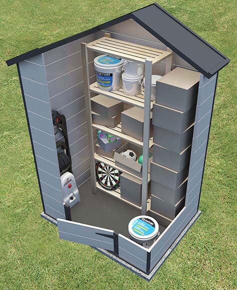 Caseta de resina de 2 45 x 1 68 m store all ref 17007473 for Caseta exterior resina